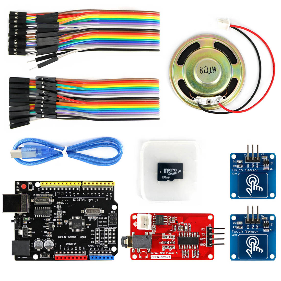 MP3 Player Kit With UNO R3 Board Micro SD Card Touch Sensor Module For Arduino Programmable Toys​