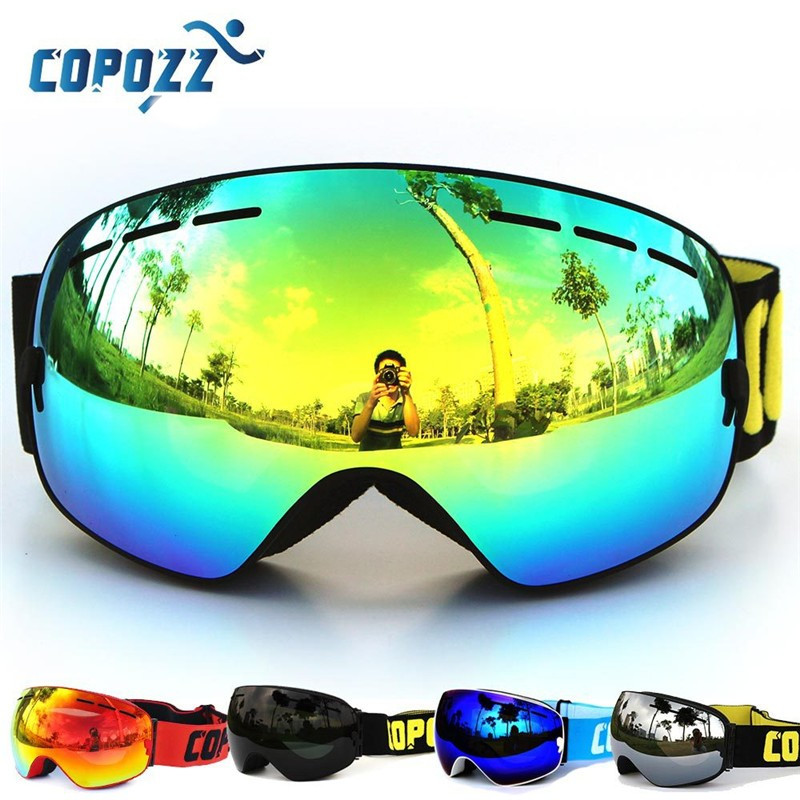 COPOZZ Brand Ski Goggles Men Women Winter Double Lens Anti-Fog Snowboard Protective Glasses Skiing Snowboarding Wear Googles copozz magnetic ski goggles with quick change lens and case set 100% uv400 protection anti fog snowboard goggles for men