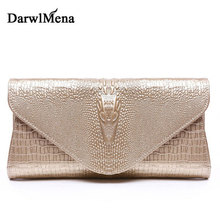 2017 new arrival women Day Clutches Baguette Crocodile texture wallet  Purse Messenger bag Shoulder Bags Genuine Leather