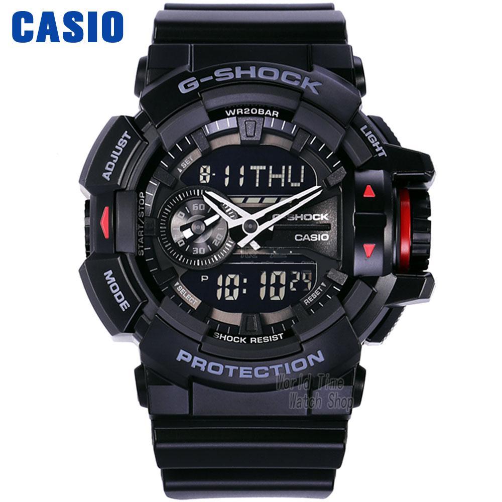 CASIO часы мужские | Многофункциональные с двойной дисплей Модные спортивные на открытом воздухе водонепроницаемые мужские часы GA 400 1B GA 400 7A