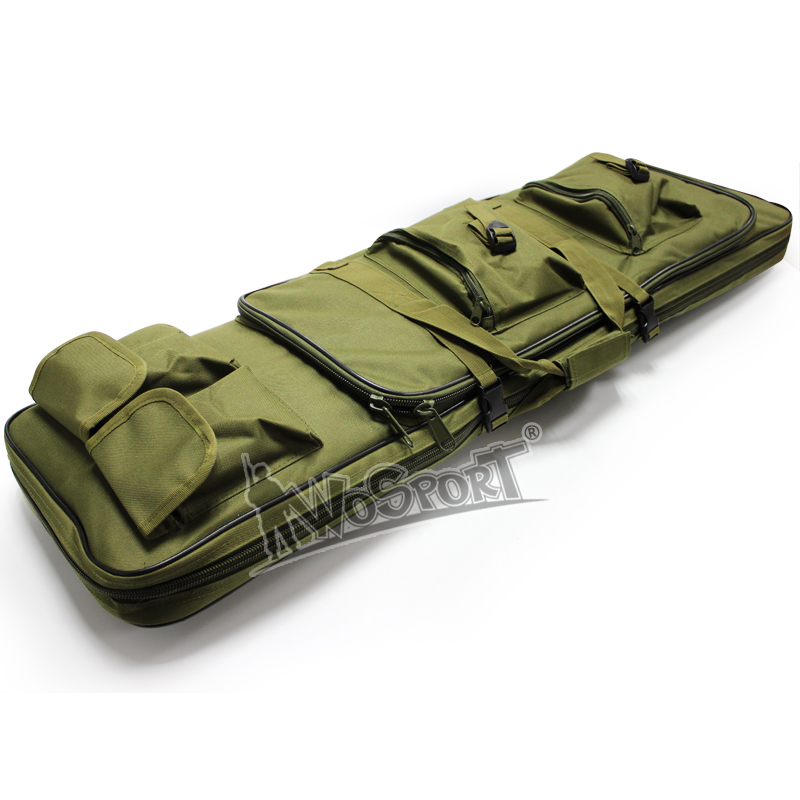 WOSPORT Tactical 100CM Double Pocket SWAT Dual Large Capacity Carrying Case Bags For  AEG Army War Game Hunting