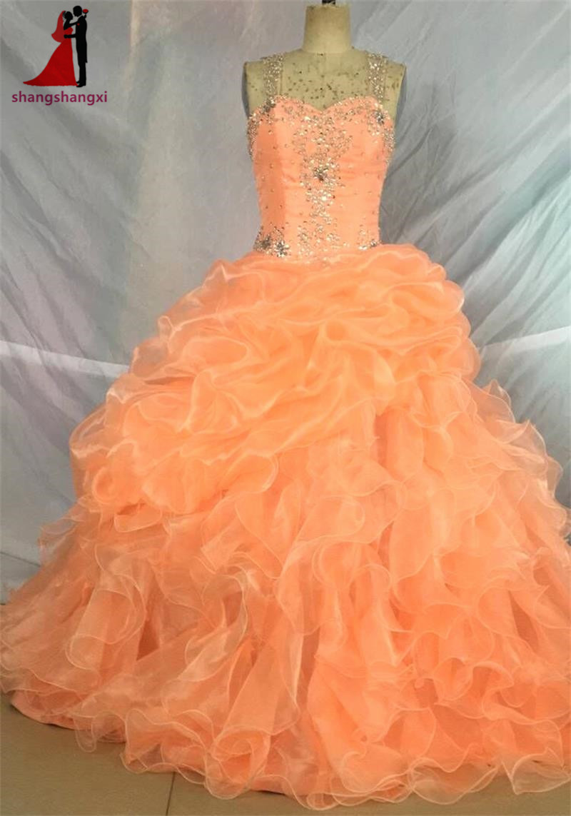 Coral Long Quinceanera Dresses 2017 Sweetheart Beads Turquoise Plus Cheap Prom Party Dress Vestidos De 15 Anos Sweet 16 Dresses