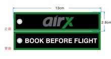 Airx livro antes do vôo aviação bordado chaveiros
