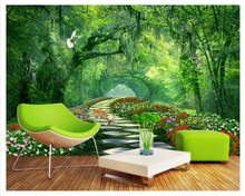 Custom wallpapers modern forest park shade road wall landscape wallpaper sofa