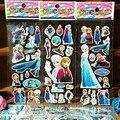 3 шт./лот Снежная Королева Пены Мультфильм с 3d-наклейки Снег модель Королева Снежная Королева Игрушки Мода аниме juguetes фигурку