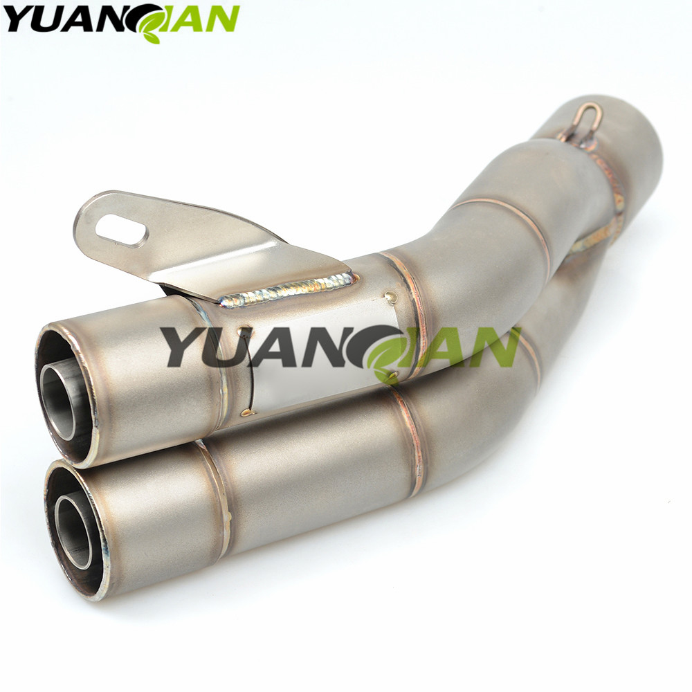 45d1c8b1479 35-51mm Universal Motorcycle Double Exhaust Muffler Pipe For Yamaha R3 R25  YZF R1 YZF R6 T-MAX500 TMAX530 mt09 XSR900 MT09