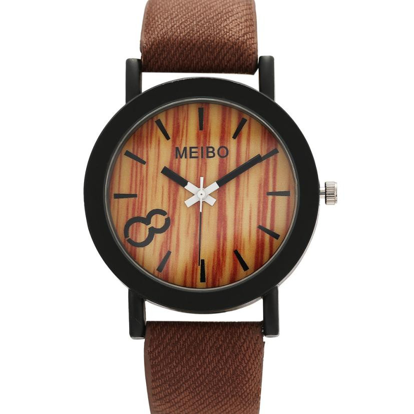 Strap Watch Wooden Quartz Crystal Color High-Quality -5/22