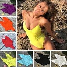 YCDYZ женский купальник ярких цветов женский цельный купальник пуш-ап купальные костюмы монокини с высокими вырезами пляжный купальный костюм