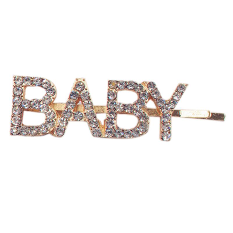Women Girls Novelty Hollow Out Letters Hair Clip Luxury Shimmer Rhinestone One Word Hairpins Night Club Party Styling Barrettes in Women 39 s Hair Accessories from Apparel Accessories