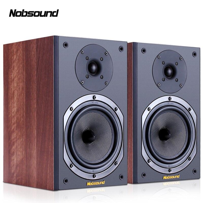 Nobsound NS-602 Deux-Way Bois 100 W 1 Paire 6.5 pouces Haut-parleurs D'étagère 2.0 HiFi Audio de la Colonne Maison Professionnel haut-parleur