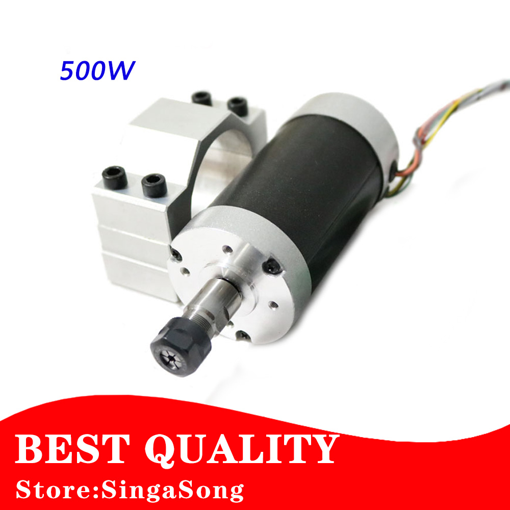 Free shipping 500W ER11 collet 52mm diameter DC motor 0-100V CNC Carving Milling Air cold Spindle Motor For PCB Milling Machine 450w cnc dc spindle motor and speed control board 48vdc 12000rpm dc air cooling 0 42nm er11 for diy carving pcb milling machine