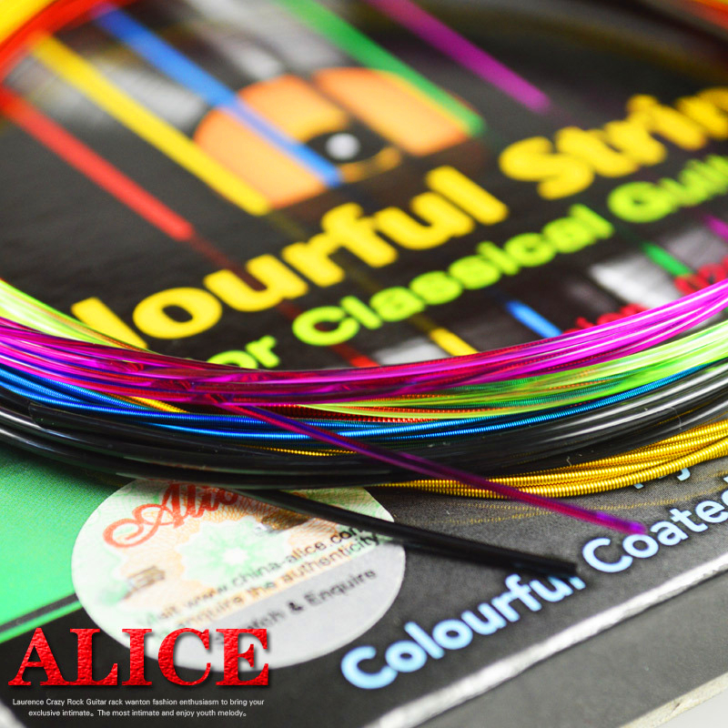 A complete set of colored classical guitar strings Nylon anti-rust copper alloy wrapped strings professilan guitar accessories
