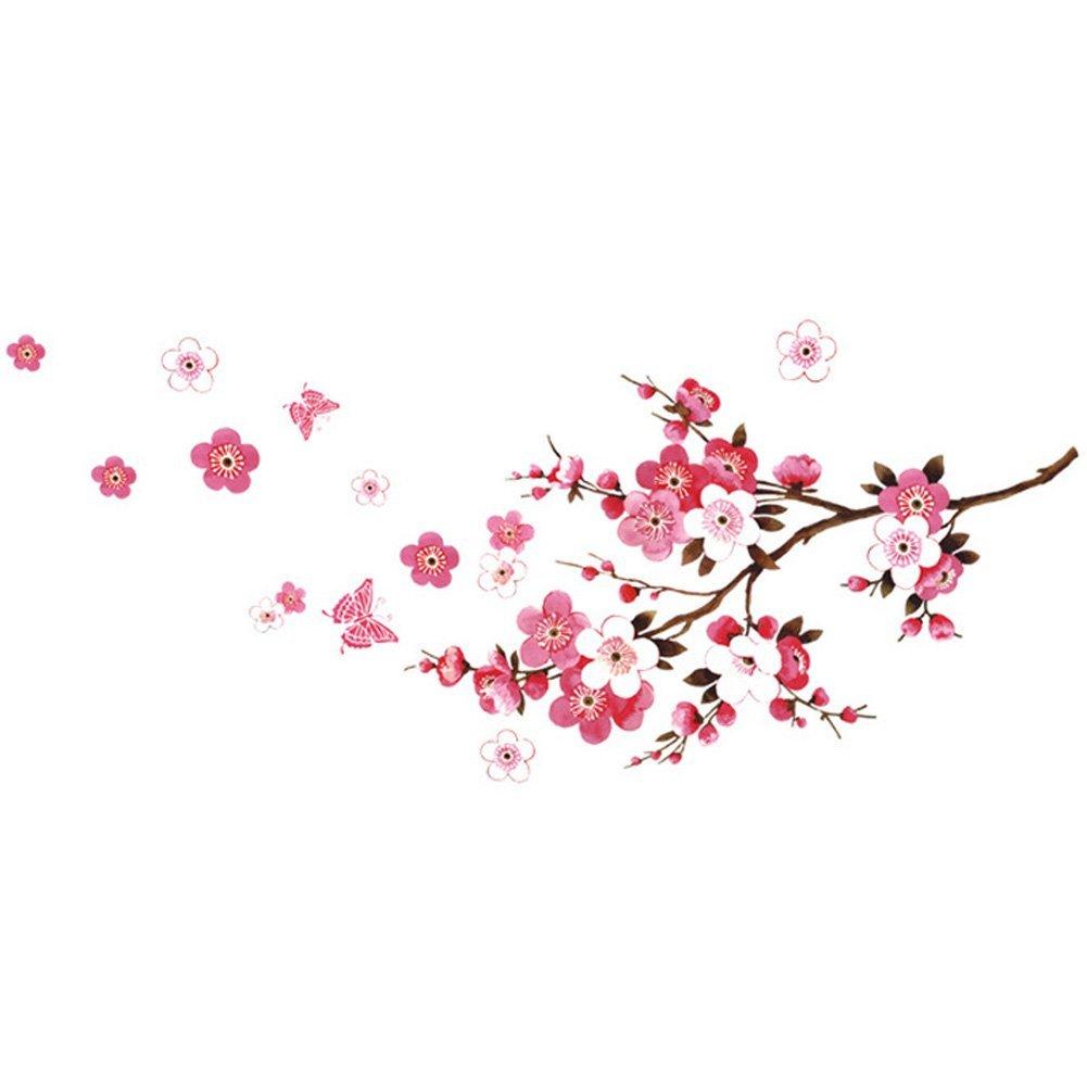 ᗐGsfy-mariposa Flor del ciruelo impermeable Fondos para el ...