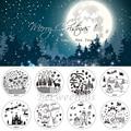 Clavo Que Estampa Las Placas calientes de Navidad de NAVIDAD Nail Art Plantilla Stamping DIY Plantillas Polacos Inoxidable Redondo 30 Estilos Para la Opción
