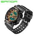 2016 Nueva Marca de Lujo de Oro Negro Hombres Deportes Relojes de cuarzo Analógico Led digital display Reloj Militar relojes relogio 30ATM
