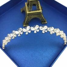 Paved Cubic Zircon Tiara Butterfly Zirconia Bride Crown Wedding Hair Accessories Hair Jewelry CZ Coroa Bijoux Cheveux WIGO1217