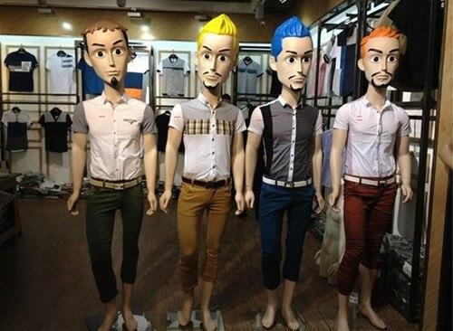 Fiberglass Full Body Male Mannequin Dsiplay With Big Cartoon Head