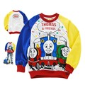 2017 Hot Sell Baby Boys Thomas T-shirt Cute Summer Long Sleeve full Kids T shirt Toddler Children Tee Clothes 2-7year wear