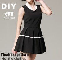 Clothing DIY The dress Dresses Sewing Pattern cutting drawing Women's Dress Sewing Template BLQ-94