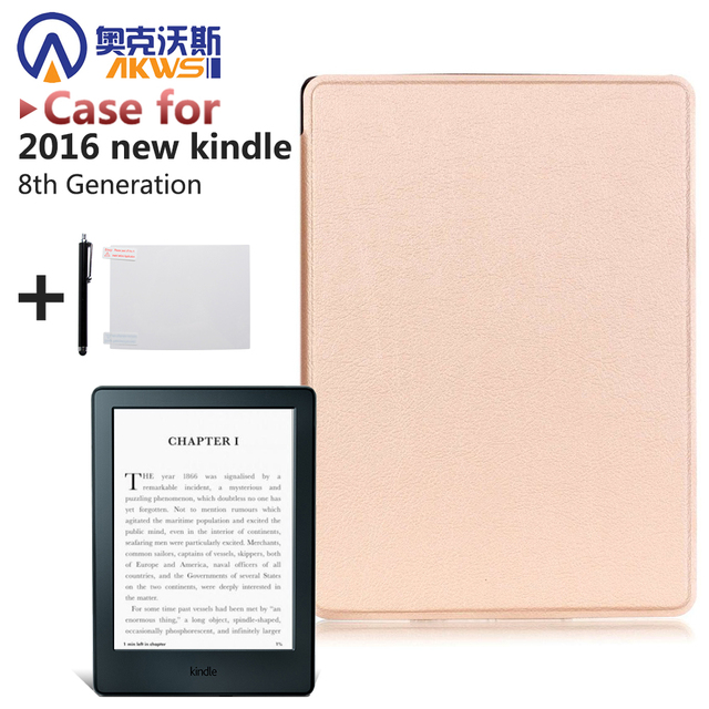 US $8 2 25% OFF|slim cover case for 2016 all new kindle touch 8th reader  smart ebook cove and Grass Protector for kindle 6'' case + gift-in Tablets  &