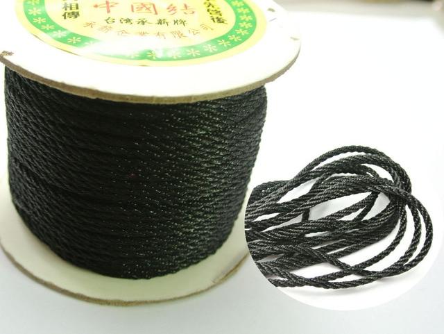 25 Meter Black Nylon Love Rope Binding Bind up Synthetic Silk String 3mm