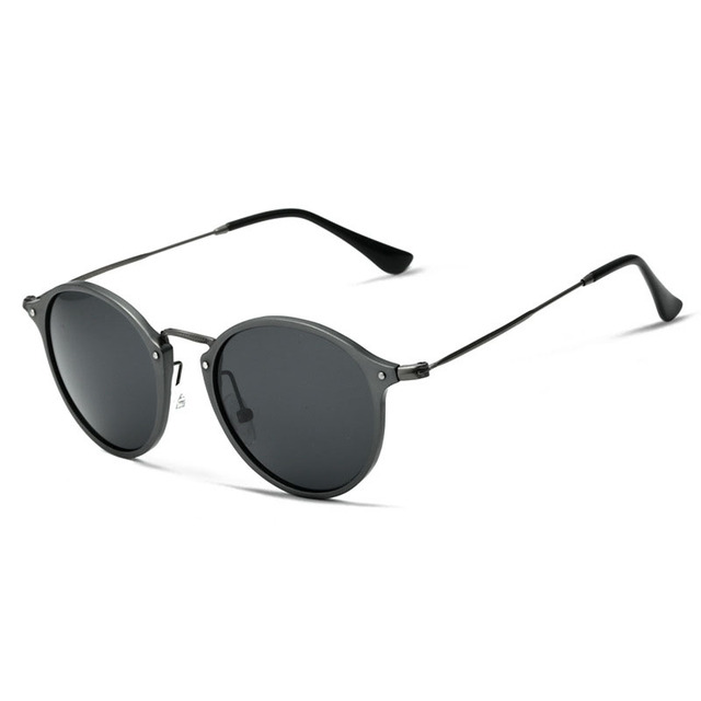 EOOUOOE Retro Pilot Sun Glasses Polarized Mirror Circular Drive Classic Eyewear Glasses Male Goggle UV400 Sunlasses For Men