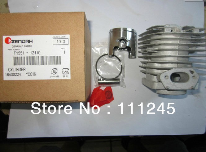 GENUINE CYLINDER ASSY FOR ZENOAH CHAINSAW G4100 FREE SHIPPING CHEAP CHAIN SAW ZYLINDER HEAD + PISTON KIT  PART# T15541-12110 piston assembly 34mm fits zenoah chain saw g2500 2500 free shipping 25cc chainsaw piston kit komatsu chain saw parts