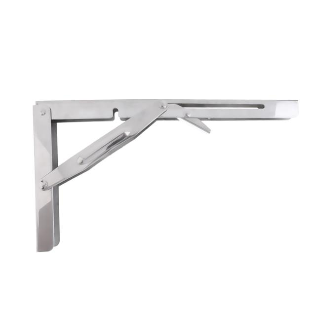 Polished 304 Stainless Steel Folding Bench Shelf Table Bracket Boat RV Parts Marine Hardware tranche du banc Soporte de estante