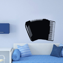 Accordion Wall Stickers Musical Instrument Nursery Music Room Decals Decorative Vinyl Art Murals