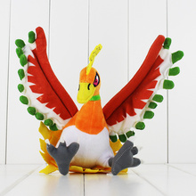 Great 26cm phoenix Ho Oh Anime Stuffed Plush Doll Toy Free Shipping