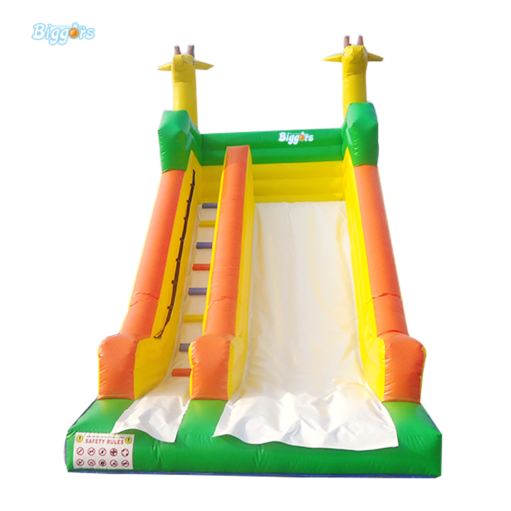 Promotional Commercial PVC Inflatable Dry Slide for Children 6 4 4m bounce house combo pool and slide used commercial bounce houses for sale