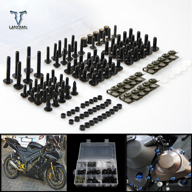 CNC Universal Motorcycle Fairing/windshield Bolts Screws set For Honda cbr1000rr fireblade cbr1100xx blackbird ST1300 st1300a