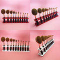 Makeup For Toothbrush Shelf Display Foundation Brush Holder Box Storage Red