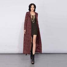 2016 Autumn and Winter Fashion Women's Plus Size Woolen Jacket Coat Slim Overcoat Single Breasted Solid Color Female Outwear