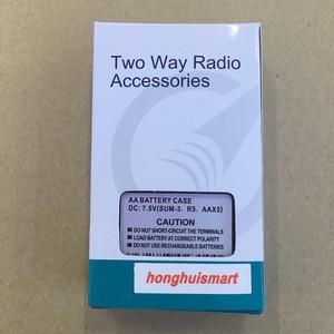 Image 5 - honghuismart Battery case 5XAA with belt clip for Wouxun KG UVD1P,KG669P 679P 639P 689P 839 KG UV6D etc walkie talkie KG 2A 1
