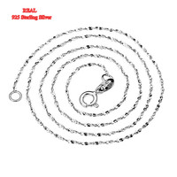 1 Piece Real Pure 925 Sterling Silver Chain Necklace Jewelry 16 18 1mm Sexy Exquisite Thin