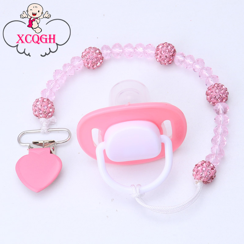 XCQGH Attache Sucette Baby Pacifier Clips Chain Nipple Belt Teether Toy Pacifier Holder Clip For Nipple Baby Safe Soother Chain