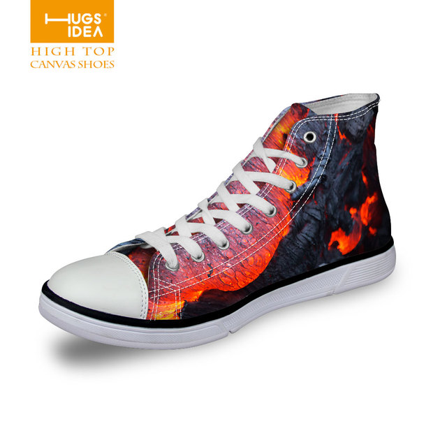 Funny Volcano Men Anti-Slip Sneakers Fashion Mesh Walking Sneakers