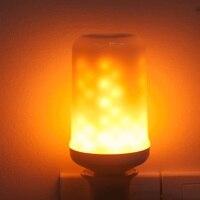 Criativa Decoração de Natal Da Lâmpada Atmosfera de luz Chama Cintilação do DIODO EMISSOR de Bulbo Emulação Efeito Chama Luz AC85V-265V E27 E26 7 W