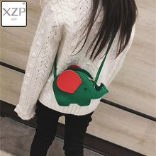 XZP 2019 New Cute Cartoon Handbag 3D Elephant Bag Kids Girl Crossbody Messenger Bags Children Purse for Women Shoulder Handbag