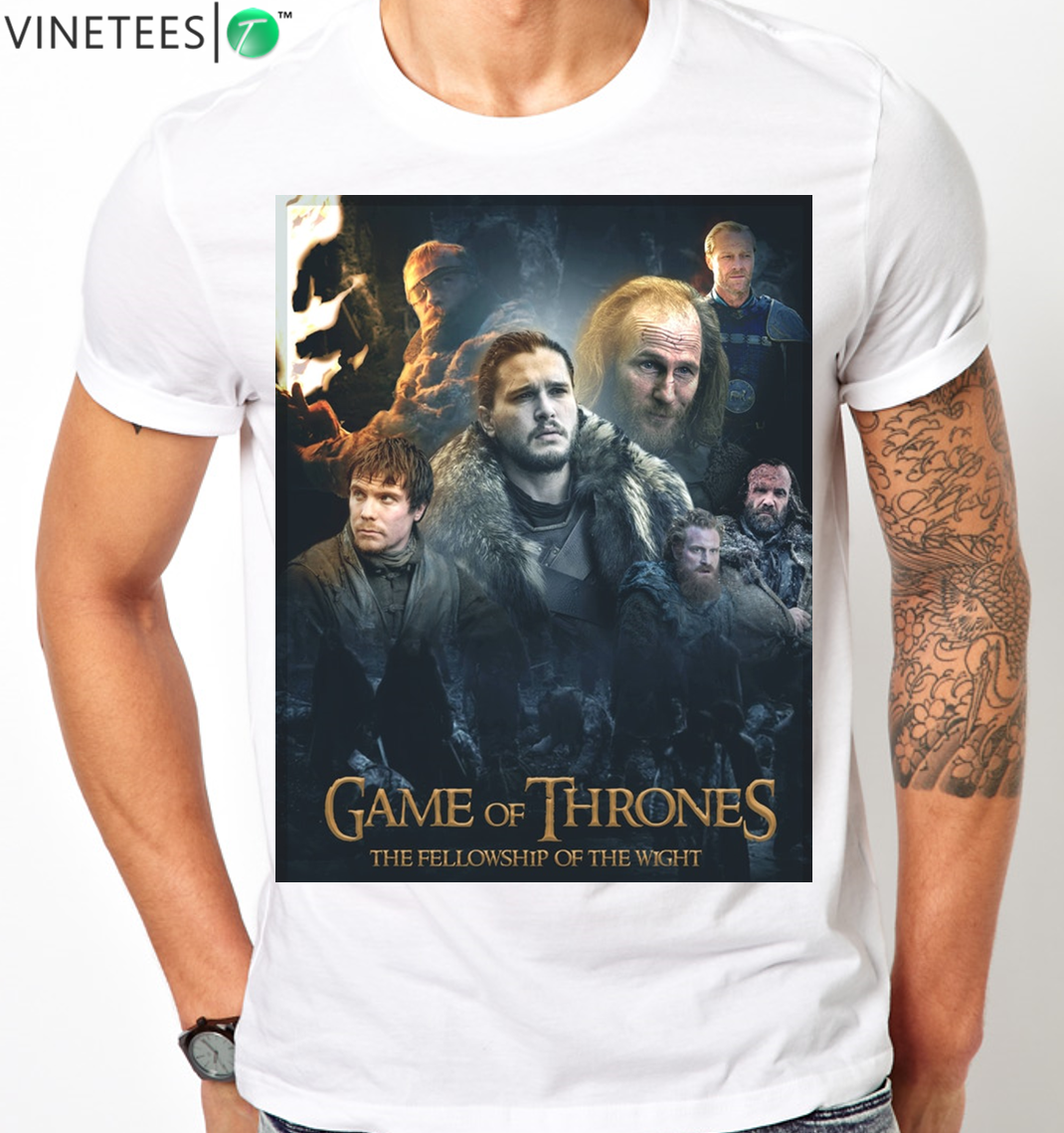 GAME OF THRONES LORD OF THE RINGS GOT LOTR SEASON 7 JON SNOW ANY SIZE T SHIRT