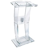 Acrylic Lectern with lots of style at an amazing price pulpit bureau desk podium stand transparent