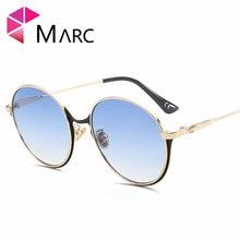 7607bbb6e0 Marc UV400 mujeres unisex ronda diseñador de moda Gafas de metal gafas  verde rosa hombres sol gafas claro