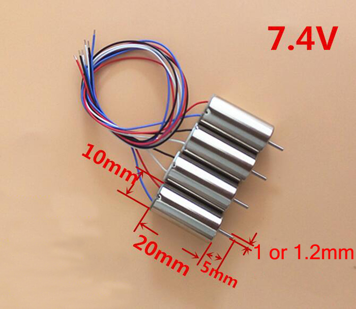 4PCS motor model aircraft high speed 1020 hollow cup motor for FPV quadcopter drone spare parts accessories