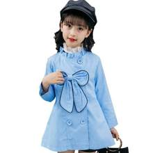 New 2018 Kids Girls Autumn Korean Long Trench Coat For Children Teens Girls School Clothes Clothing Jacket Windbreaker Outwear(China)