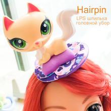 FGHGF LPS Pet Shop Hairpin Dog Cat with Aaccessories  Collection Rare Figure Collie Animals Loose Cute Kid Toys