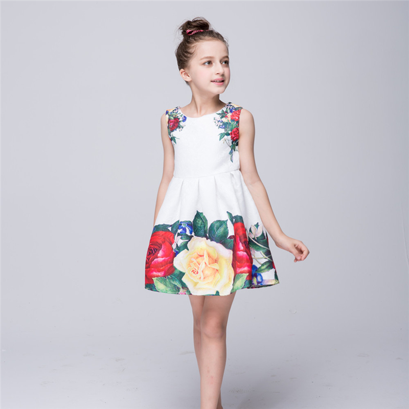 NEW   Girl   Printing Vest   Dresses     Flower     Girl     Dresses