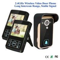 3 5inch Motion Detection Wireless Video Door Phone 1v2