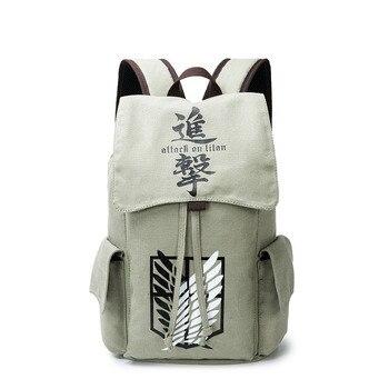 9ca2db63bce4 Холст атака на Титанов Тоторо Смерть Примечание Токио вурдалак Наруто школьная  сумка рюкзак мужской/женский мешок Dos путешествия рюкзак