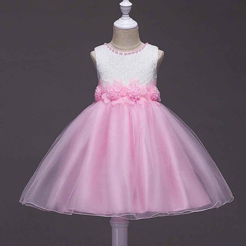 Tjejer klänning ny sommarblomma barnparty klänningar för bröllop - Barnkläder - Foto 2